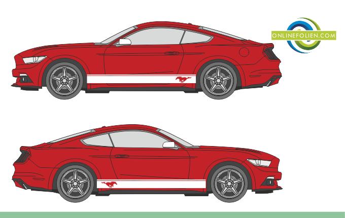 Schwellerstreifen Mustang